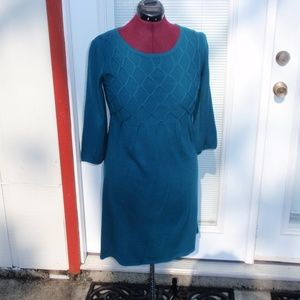 Alex Teal Sweater Dress Sz S